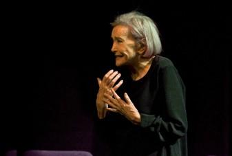 Nuria Espert durante la representación de Romancero Gitano.